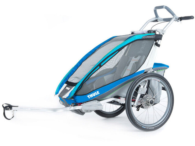 Thule Chariot CX 1 Bike Trailer With Bike Set blue
